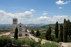church in assisi - stock photo