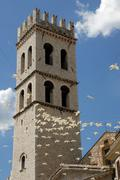 Tower of basilica in assisi Stock Photos