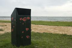 loving garbage can - stock photo