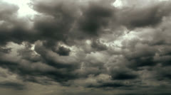 Dark Ominous Storm Clouds Time Lapse Stock Footage