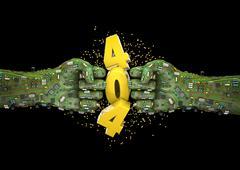 Data fist 404 error Stock Illustration