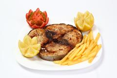roasted tuna steak - stock photo