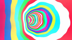 Color Tunnel Rotation Loop Stock Footage