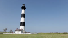 Bodie Light House in North Carolina Stock Footage