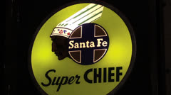 Santa Fe Super Chief Stock Footage