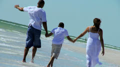 African American Family Healthy Outdoors Lifestyle - stock footage