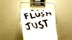 Just Flush It! - stock footage