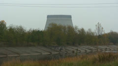 The reactors after the nuclear disaster ruins at Chernobyl. - stock footage