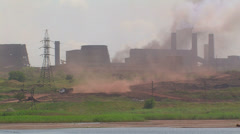 Powerful metallurgical plant. Stock Footage