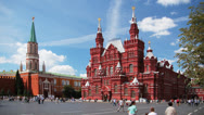 Stock Video Footage of Red Suqare, Moscow, view toward  Kremlin and Historical Museum, time-lapse.