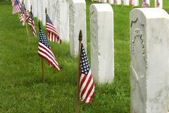 Hautoja ja hautakivien sulkeutumaan Ft Sam Houston Veterans Cemetery Kuvituskuvat