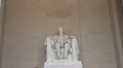Lincoln Memorial Statue Stock Footage