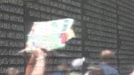 Vietnam Memorial in Washington Stock Footage