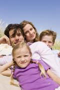 Germany, Baltic sea, Family portrait, close-up - stock photo