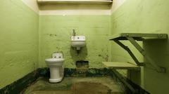 Stock Photo of empty jail cell