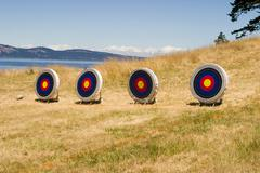Island archery range Stock Photos