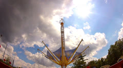 Cool time lapse of giant swing ride Stock Footage