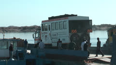 Ferry Egypt to Sudan - Loading the trucks Stock Footage