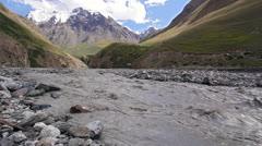 White mountain river Atdzhaylyau Stock Footage