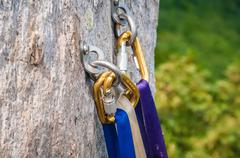 climbing carabiner - stock photo