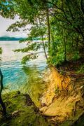 scenery around lake jocasse gorge - stock photo