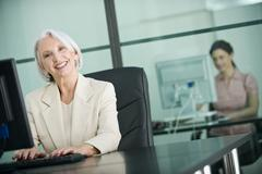 Germany, Munich, Business women in office, working - stock photo