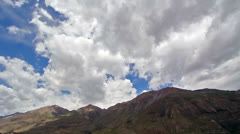 Clouds in the mountains. Kirgystan, central Tien Shan Stock Footage