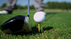 Retired Golfer Playing Golf Course Stock Footage