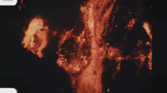 Lava flow. (Vintage 1970's 16mm film footage). Stock Footage
