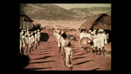 Stock Video Footage of Morning exercise at Mbulu native school, Tanzania 2 1937
