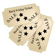 Stock Illustration of Black Friday Tickets for Christmas Shopping Season