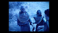 Stock Video Footage of Maasai women speaking with guide, Tanzania 1937