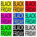Stock Illustration of Black Friday on Colorful Banner for Special Price Products