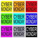 Stock Illustration of Cyber Monday on Colorful Banner for Special Price Products