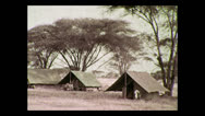 Stock Video Footage of Camp at Balangeti, Tanzania 1937