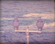 8MM SPAIN windy sea Tenerife Island Stock Footage