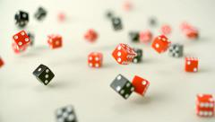 Dice rolling, Slow Motion Stock Footage