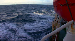 Shots from the side of a boat on the high seas. Stock Footage