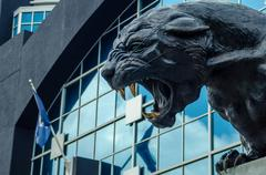 Black panther statue Stock Photos