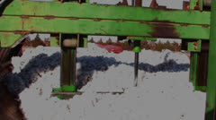 Stock Video Footage of Cotton packed into module former 2
