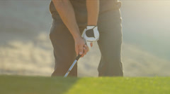 Golf Professional Playing Ball Sand Wedge Stock Footage