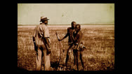 Stock Video Footage of Native hunters, Tanzania 1937