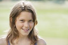 Stock Photo of Spain, Mallorca, Portrait of a girl (10-11), close-up