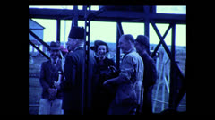 Guides and clients mugging for the camera at the Niarobi airport, 1937 Stock Footage