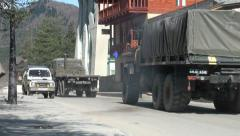 Georgian military trucks Stock Footage