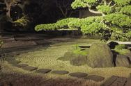 Stock Photo of night in zen garden