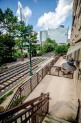 Charlotte north carolina light rail transportation moving system Stock Photos