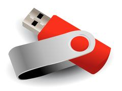 Vector flash drive Stock Illustration