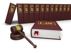 legal literature - stock illustration