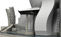 Guggenheim museum bilbao 2 Stock Illustration